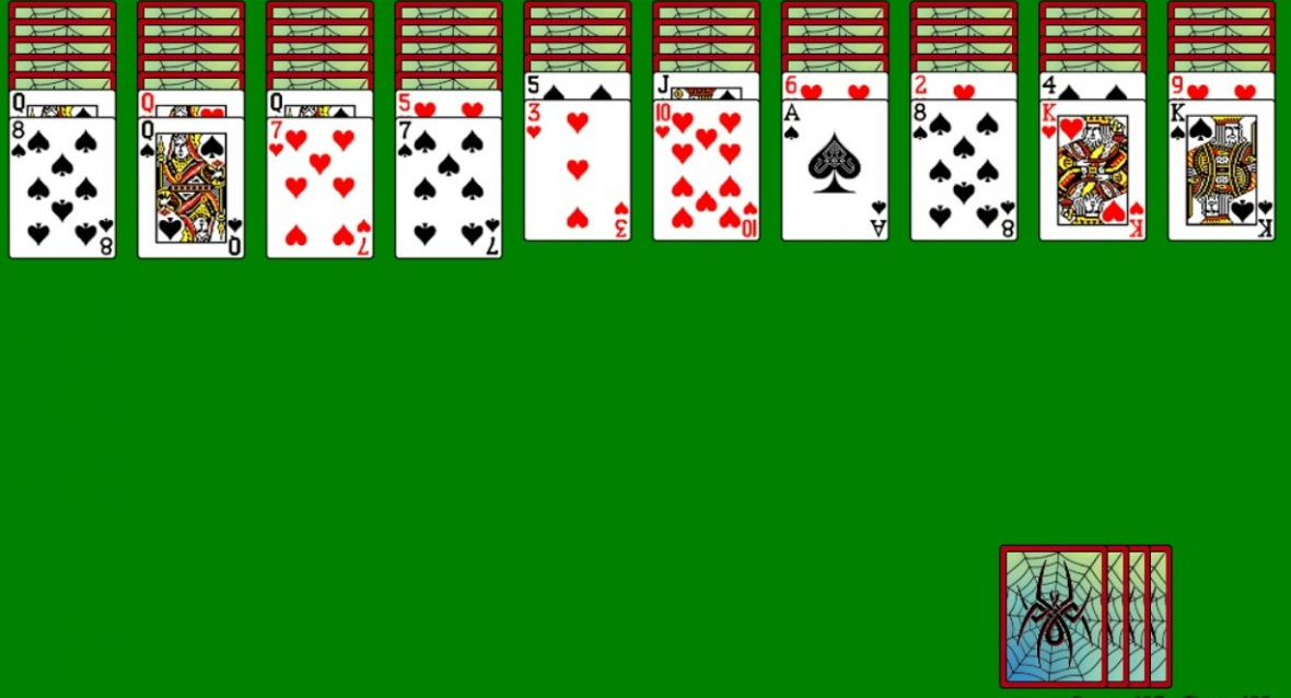 Пасьянс Паук (2 масти) - правила игры